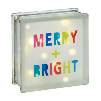 """Merry & Bright"" Lighted Box Sitter"